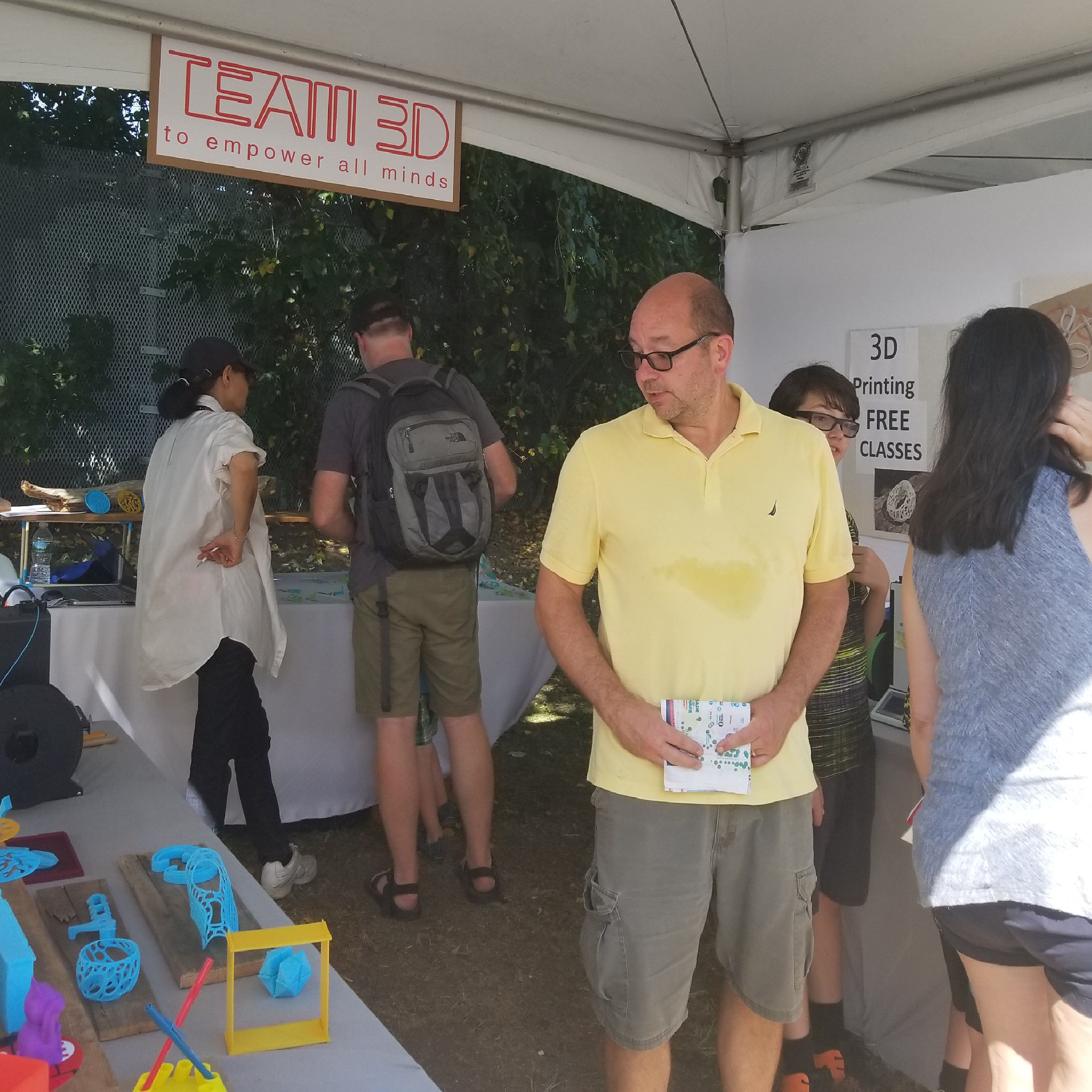 Take a virtual tour of TEAM 3D STUDIO booth at 2017 MAKER FAIRE New York City