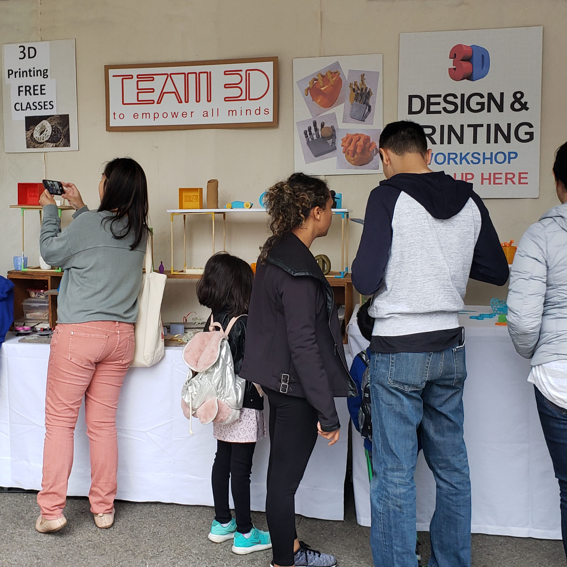 TEAM 3D STUDIO booth at 2018 WORLD MAKER FAIRE New York City