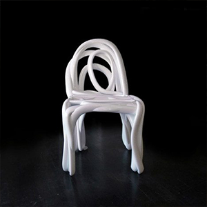 Printed chair in 3d technology